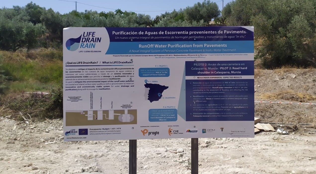 START OF THE CONSTRUCTION WORKS OF THE 2ND PILOT OF THE LIFE DRAINRAIN IN CALASPARRA